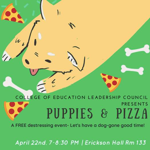 Puppies and Pizza – Student Appreciation Night