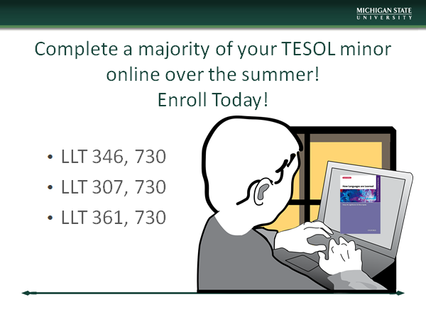 Take a look:  TESOL minor coursework online summer 2019!