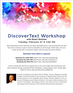Discover Text Workshop