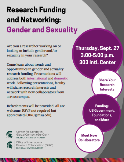 Event: Research Funding and Networking – Gender and Sexuality