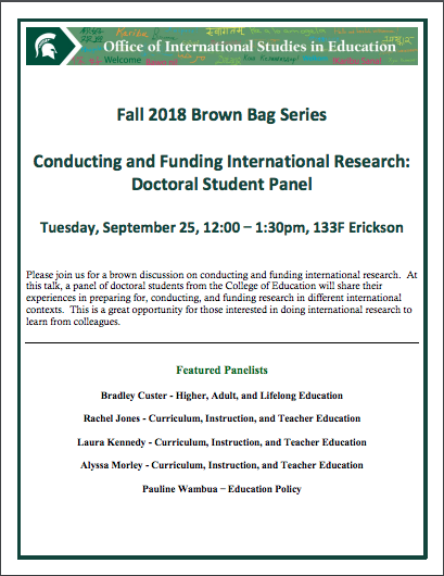 Event: OISE Brown Bag Series