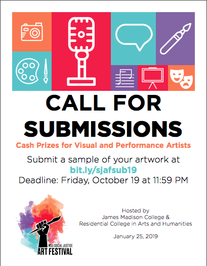 Call for Submissions: 2019 Social Justice Art Festival