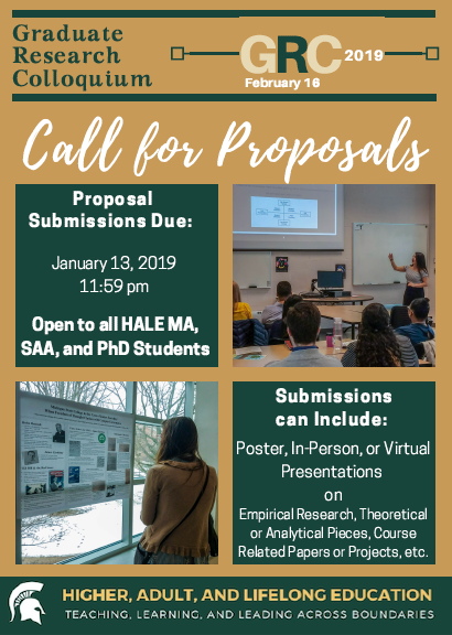 Call for Proposals: Graduate Research Colloquium (GRC) 2019