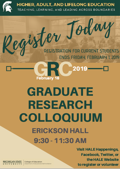 GRC 2019: Registration