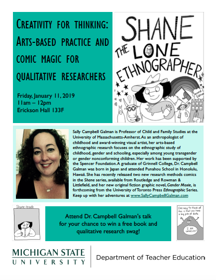"""Event: """"Creativity for Thinking: Arts-Based Practice and Comic Magic for Qualitative Researchers"""""""