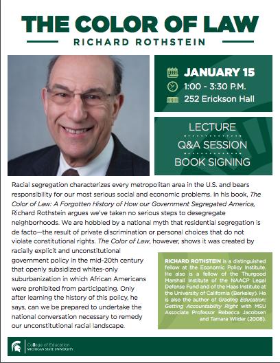 Event: Talk by Dr. Richard Rothstein