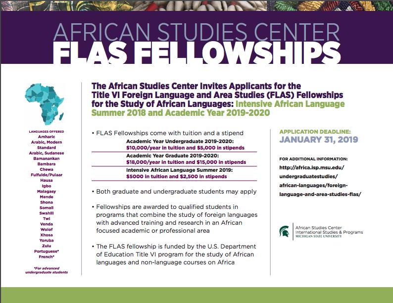 African Studies Center FLAS Fellowships