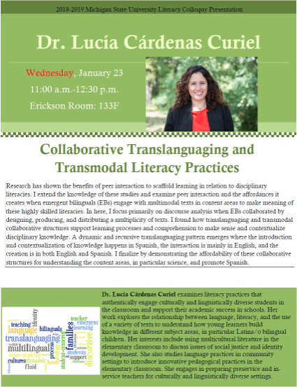 Event: Collaborative Translanguaging and Transmodal Literacy Practices