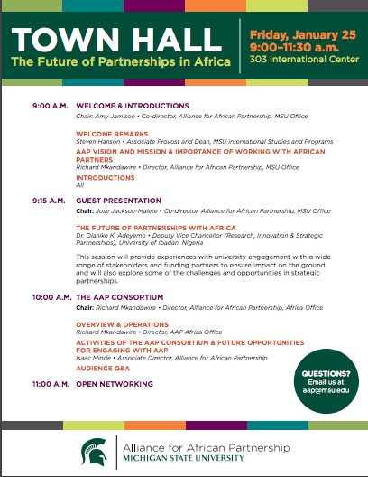 Event: Town Hall – The Future of Partnerships in Africa