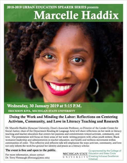 Event: Urban Education Speaker Series, Marcelle Haddix