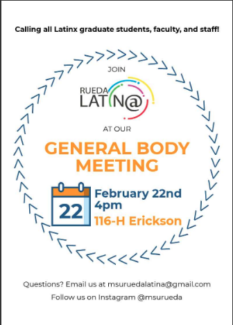 Rueda Latin@ February General Body Meeting