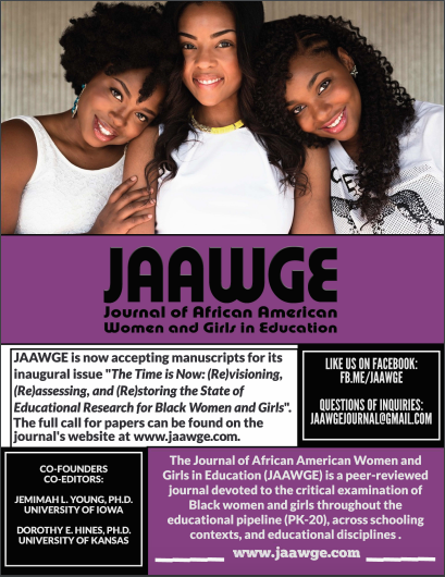 Call for Manuscripts: Journal of African American Women and Girls in Education (JAAWGE)