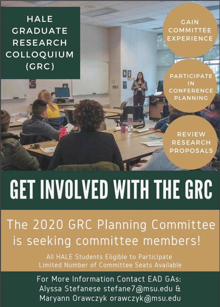 GRC Planning Committee: Seeking Committee Members
