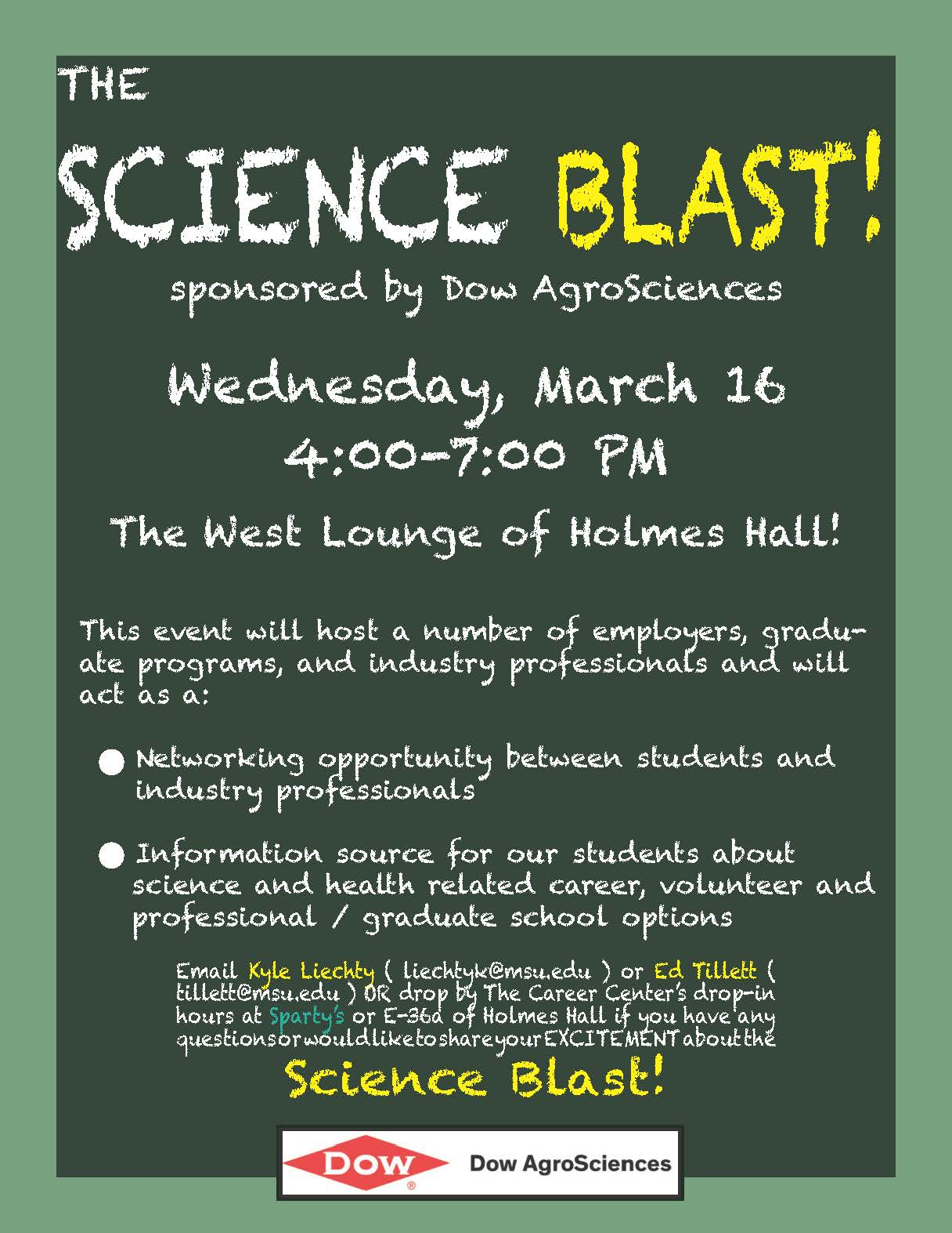 Network with Professionals during Science Blast!