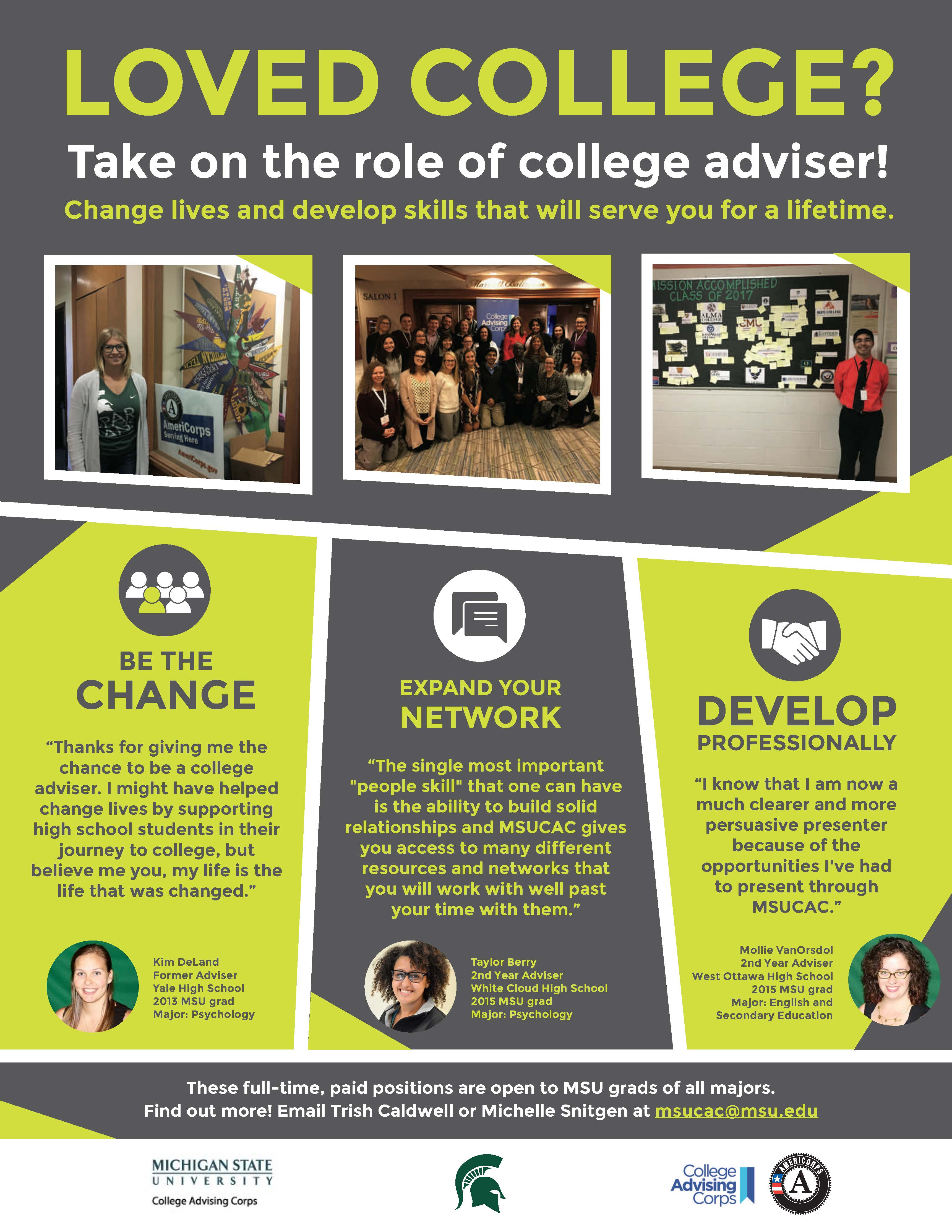 College Advising Corps – Possible Gap Year