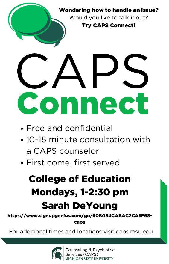 CAPS Connect flyer