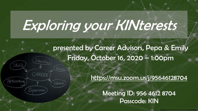 Exploring your KINterests poster