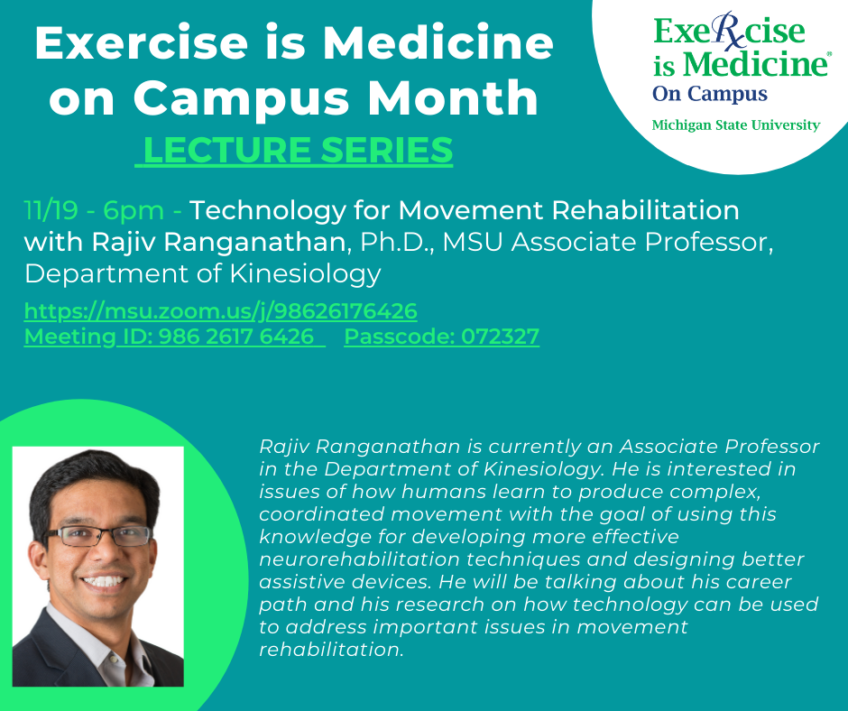 EIM Lecture Series with Dr. Ranganathan, KIN professor