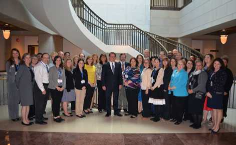 The 2014-15 Michigan EPFP Fellows with Senator Gary Peters.