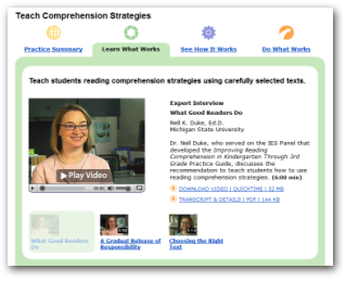 New online resource for improving K-3 reading comprehension