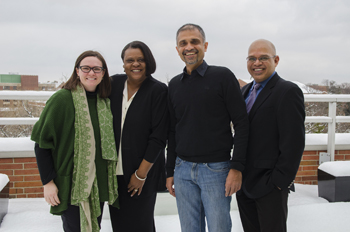 From left to right: Leigh Graves Wolf, Sonya Gunnings-Moton, Anurag Behar and Punya Mishra