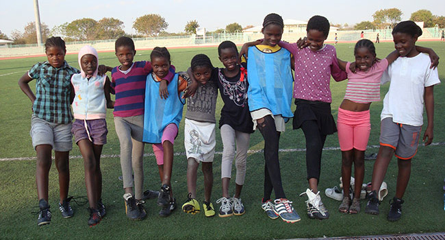 Children in Botswana during the College of Education's 2013 study trip for Ph.D. students.