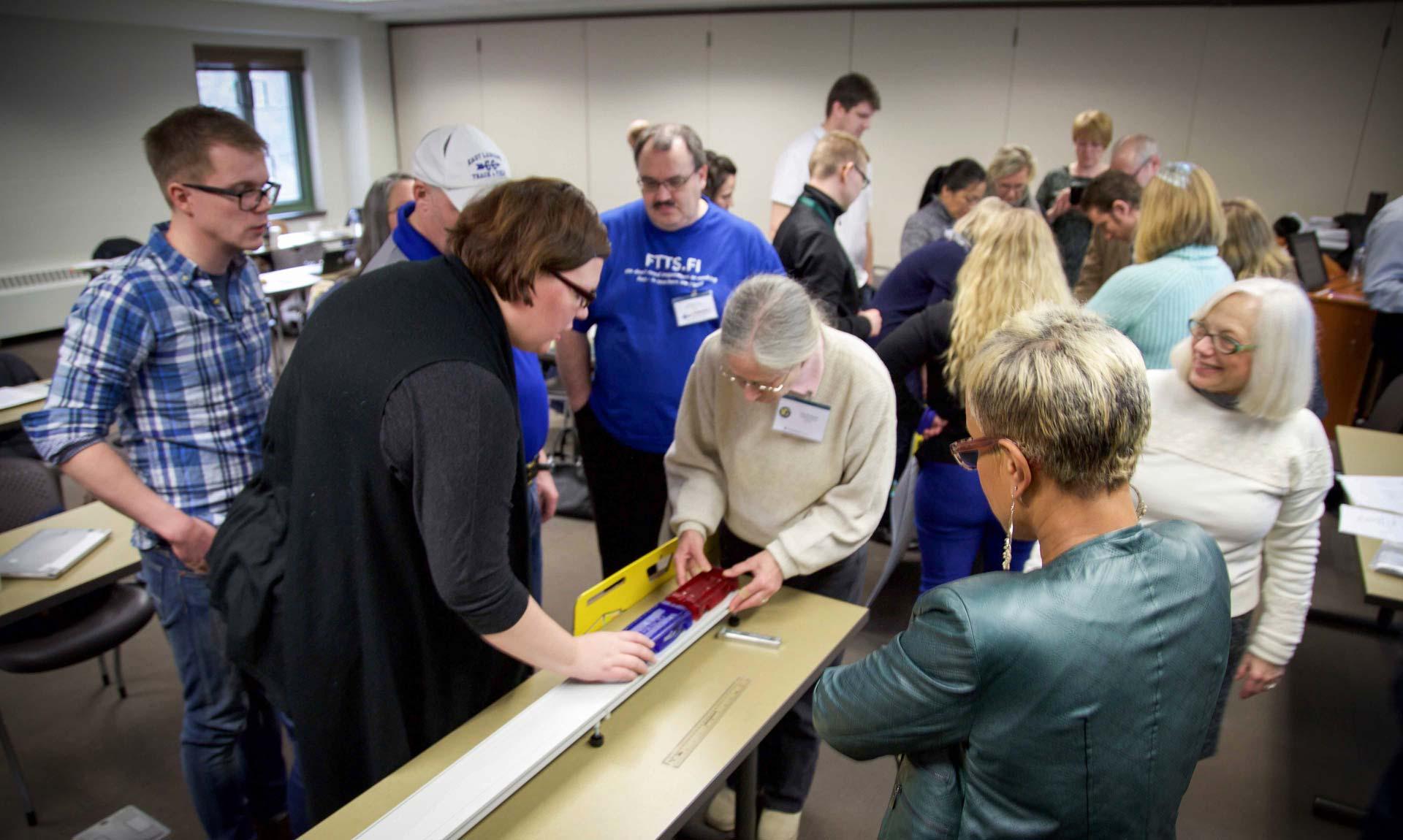Barbara Schneider observing science lesson planning