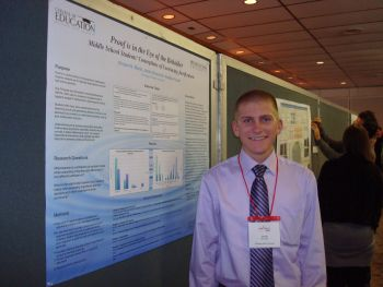 Math education student presents at research conference