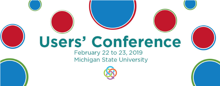 Users' Conference logo, with red and blue circles.