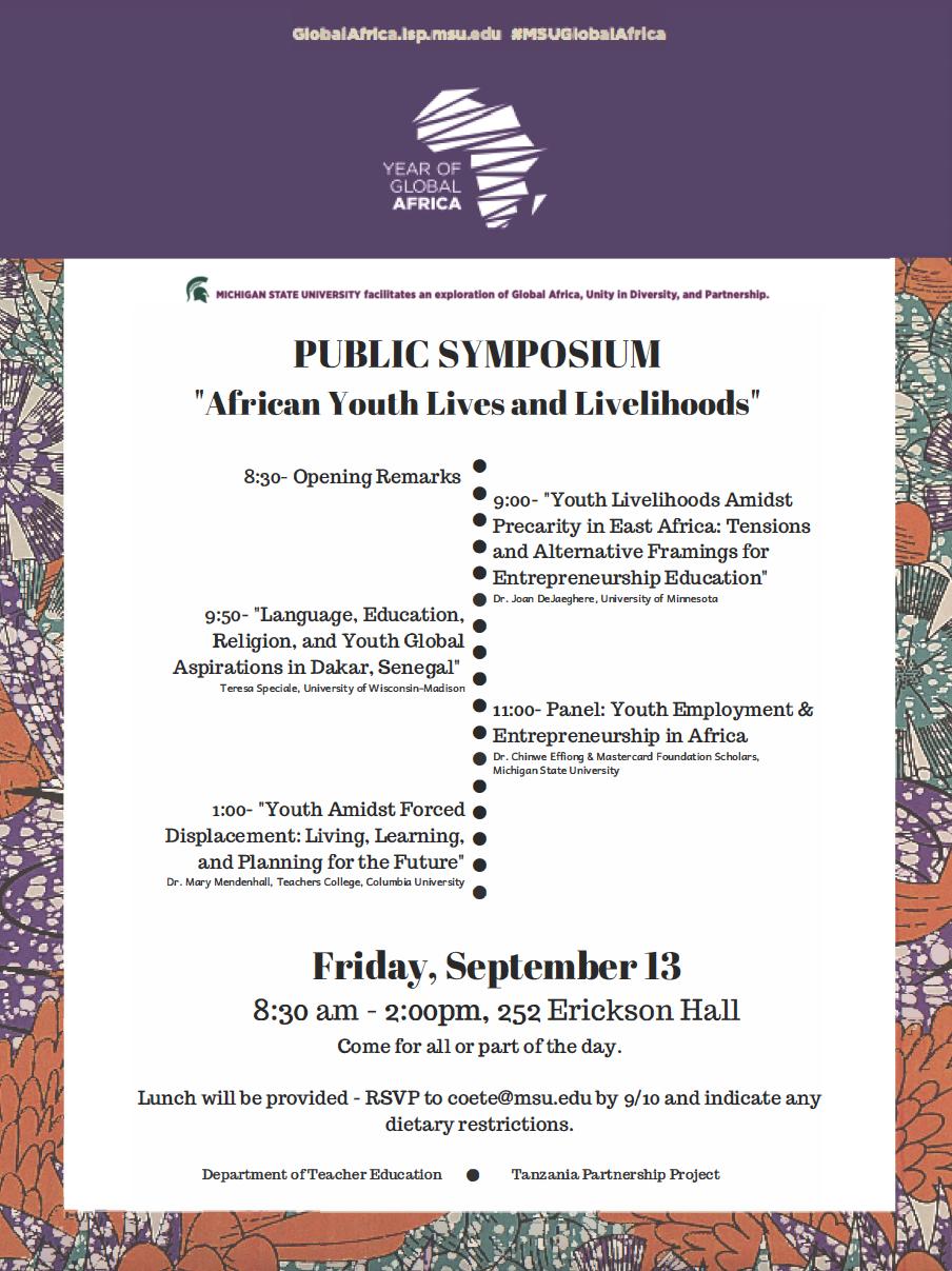 Flyer showcasing events. Information below provides similar details.